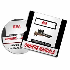 BSA AIRGUN AIR RIFLE GUN OWNERS MANUAL  USER Disc  #Airrifle