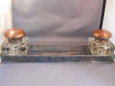 Double Ink Wells and pen tray-Huge ink wells