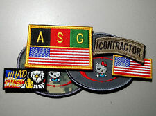 SECRET SERVICE 6-PC SET: Private Security Contractor Iraq + ASG Kabul + 3 Tabs