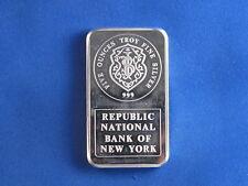 Johnson Matthey Republic Bank Silver 5 Oz Ingot B4427
