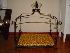 Luxury Iron frame scroll Canopy PRINCESS Dog Cat Pet Bed Furniture small 25 x 18