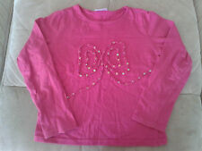 Girls 3-4 Years - Pink Long Sleeved Top, Ruched & Sequinned Butterfly Motif