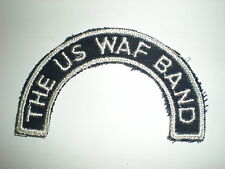 RARE USAF WAF WOMEN'S AIR FORCE BAND TAB PATCH