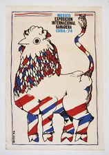 1974 Cuban Original Silkscreen Movie Poster.Farming.Ranching.Cattle.Chicken Cow