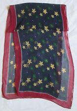 Étole/écharpe en mousseline soie  vintage Scarf  35 cm x 140 cm