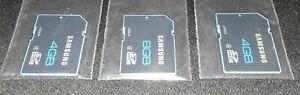 X3 Samsung SD Card Lot 4GB 8GB