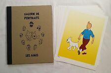 Portfolio BD Tintin - Galerie de Portraits Les Amis n° signe RODIER HERGE / RARE