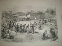 Greek Easter festival in the Troad Turkey 1878 old print ref Y1