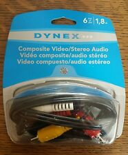 DYNEX 6' COMPOSITE VIDEO/STEREO AUDIO CABLE  DX-AD125 OPEN BOX ITEM
