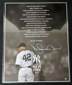 Mariano Rivera Signed 16x20 NY Stands for New York 9/11 Steiner PSA 10 COA
