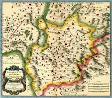 Reproduction carte ancienne - Le Velay 1670
