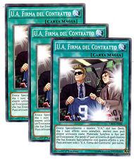 Set 3x U.A. FIRMA DEL CONTRATTO CROS-IT088 Comune in Italiano YUGIOH