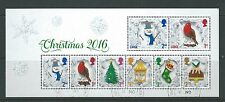 GREAT BRITAIN 2016 CHRISTMAS MINIATURE SHEET NO BARCODE  FINE USED