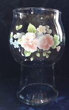"Pfaltzgraff TEA ROSE Glass Floating CANDLE HOLDER  7 12/16"""