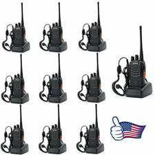 10 Pack Baofeng BF-888S 1500 mAh Two-Way Ham Radio Walkie Talkie Transceiver