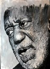 Acrylic Painting of Bill Cosby paper on cardboard modern wall art portrait