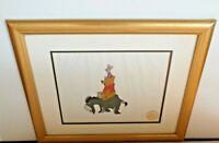 Original Disney Winnie The Pooh & The Blustery Day LE Serigraph Cel 1968 w Stamp