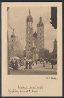 33119) Polen Echt Foto AK Krakau Marienkirche Kraków ca. 1935 ungelaufen