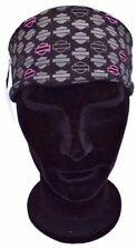 Genuine Harley Davidson donna women's in bianco Bar & Shield Head Band Nero Rosa