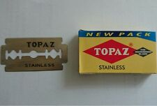 TOPAZ STAINLESS DOUBLE EDGE RAZOR BLADES WITH SUPER STAINLESS STEEL - 100 BLADES