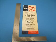 Vintage 1972 Cape Cod Vacation Map Travel Guide Maps And Ads S2153