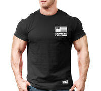 New Men's Monsta Clothing Fitness Gym T-shirt - War Flag