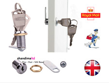 Cam Lock for Door Cabinet Mailbox Drawer Tool Box Cupboard 16mm + 2Keys