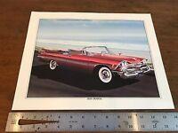 1959 Dodge Custom Royal Art Lithograph Print 11 X 14 Artist K. Yeszin (HD11)