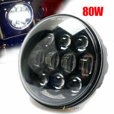 80W 5-3/4 5.75'' inch Daymaker LED Headlight DRL For Harley Davidson Motorcycle