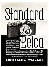 1933 Leica Kamera Standard Leica ca. 8x11 original Printwerbung