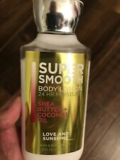 Bath and Body Works Shea Butter Coconut Oil Body LOTION cream 8 OZ  Little Used