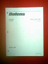 BOLENS TRACTOR 19HP MODEL 1966 1900 PARTS MANUAL 1/83