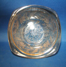 """Jeannette Depression Glass Floragold Louisa Small Berry Bowl(s) 4 1/2"""" MINT @23"""