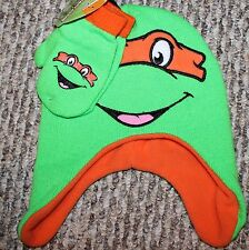 New! TODDLER Boys Teenage Mutant Ninga Turtles Mittens/Hat Lot/Set - Sz 2T-3T-4T