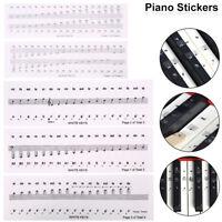 Stickers notes de piano Clavier musical 88/61/54/37/32 touches blanches et noire