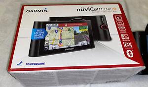 "Garmin nuviCam LM 6"" GPS Navigator Built-In Dashcam+Box+Cords+8gb Memory Card"