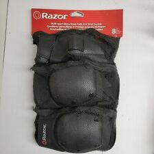 Razor Youth Multi-Sport Elbow & Knee Pad Wrist Guard Safety Set Black New