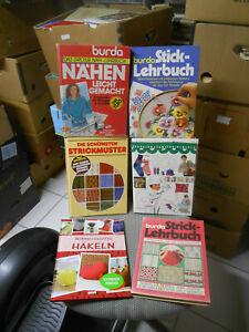Stricken / Nähen / Häkeln / Sticken  versch Lehrbücher mit Musterbogen s. Liste
