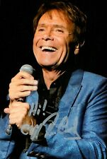 More details for slight damaged sir cliff richard signed 6x4 photo summer holiday autograph + coa