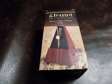 Tempi Metronome for Musicians (Plastic Mahogany Grain Veneer) Free Shipping