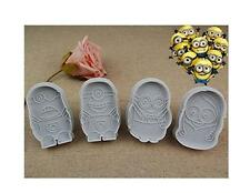 4 pcs Cartoon Mold Despicable Me Minion Cookie Cutter Plunger Fondant Cake Mold