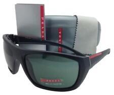 Authentic Prada Sport Sunglasses SPS 01OS 1BO3O1 Black Sand / Green Lens