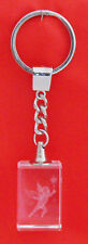 FAIRY HOLDING WAND CRYSTAL KEYRING 3D LASER ETCHED NEW BULK KEY RINGS CHI FLOW