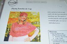 "Crochet Guild America Pattern Fiesta Poncho & Cap 32-42"""