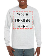 Custom Personalized Long Sleeve T-shirt Your Design Printed Front or Back