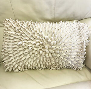 Luxury Wool Cushion Cover with Flower Inspired Detailing