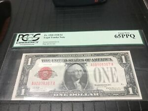 1928 red seal, United States note ,  PCGS Gem new 65 PPQ