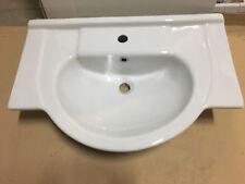 Lavabo Consolle 105 in ceramica bianco