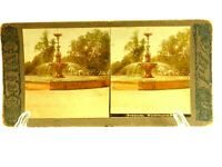 Fountain in Washington Park Chicago Colored Thornward Stereoview Slide