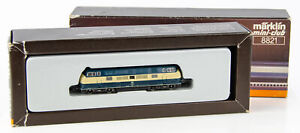 Vintage Marklin Mini-Club 8821 German Z Scale Diesel Locomotive DB 221 120-9